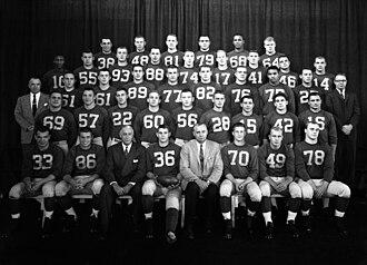 1958 Michigan Wolverines football team - Image: 1958 Michigan football team
