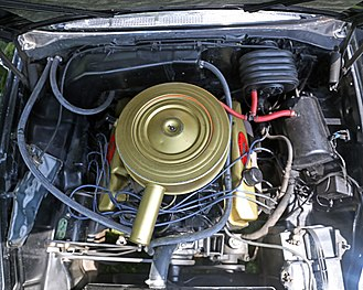 "Chrysler B engine - RB 383 ""Golden Lion"" engine in a 1959 Windsor"