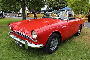 Sunbeam Alpine - 1962 Alpine on optional wire wheels with wide rims