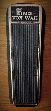 wikizero jimi hendrix a color image of a 1968 king vox wah pedal the foot pedal is black