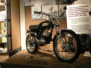Motorcycle Hall of Fame - A 1972 Harley-Davidson Baja 100 on display