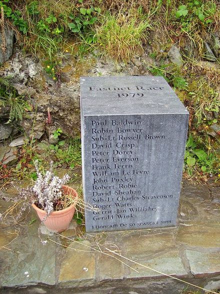 Memorial to those who died in the 1979 Fastnet race, Lissarnona, Cape Clear Island, Cork, Ireland 1979 Fastnet race memorial.jpg
