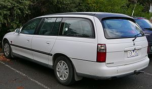 Holden Commodore (VT) - The station wagon variant of the third generation Commodore. Model displayed is an Acclaim (VT)