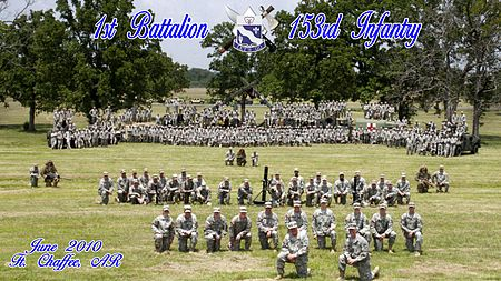 1st Battalion, 153rd Infantry during Annual Training 2010 at Fort Chaffee Arkansas