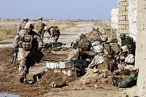 Operation Moshtarak - Image: 1st Battalion 3rd Marines near Marja