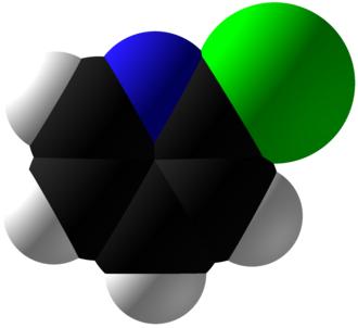2-Chloropyridine - Image: 2 Chloropyridine Space Fill
