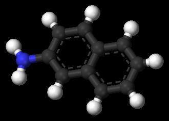 2-Naphthylamine - Image: 2 Naphthylamine 3D balls