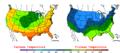 2006-05-06 Color Max-min Temperature Map NOAA.png