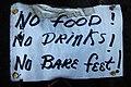 2006-08-11 - Road Trip - Day 19 - United States - California - Crescent City - Sign - No Food No Dri 4889393326.jpg