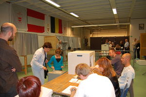 Federal elections in Belgium today.