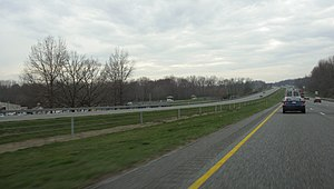 Interstate 70 in Maryland - Westbound I-70 in West Friendship