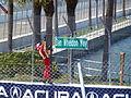 2012 Honda Grand Prix of St. Petersburg Helio Castroneves Dan Wheldon 3.JPG