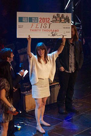 2012 Polaris Music Prize - Image: 2012 Polaris Prize Winner Feist