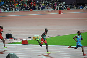 Athletics at the 2012 Summer Olympics – Men's 400 metres - Image: 2012 Summer Olympics – Mens 400 metres Kirani James