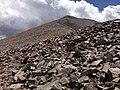 2013-07-14 12 33 41 View up towards the summit of Wheeler Peak from along the Wheeler Peak Summit Trail.jpg