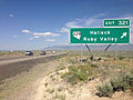 2014-06-10 16 11 26 Sign for Exit 321 along eastbound Interstate 80 in Halleck, Nevada.JPG