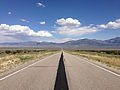 2014-08-09 13 32 53 View east along U.S. Routes 6 and 50 about 64.6 miles east of the Nye County line near Majors Place, Nevada.JPG