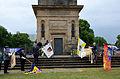 2015-06-20 200 Jahre Schlacht bei Waterloo, Welfenbund, The Royal British Legion, Hannover, Waterloosäule, (32).JPG