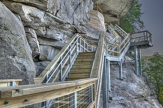 Chimney Rock State Park - Image: 2015 18 0204 stairway