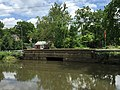 2017-06-19 12 34 35 View northeast across the Delaware and Raritan Feeder Canal northwest of Scudders Falls in Ewing Township, Mercer County, New Jersey, looking towards a small bridge along New Jersey State Route 29 (River Road).jpg