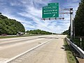 2019-05-21 11 39 46 View north along Interstate 97 (Robert Crain Highway) at Exit 10 (Veterans Highway, Benfield Boulevard, Severna Park) on the edge of Gambrills and Severna Park in Anne Arundel County, Maryland.jpg