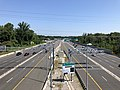 2019-06-28 10 39 39 View north along Interstate 495 (Capital Beltway) from the overpass for U.S. Route 29 and Virginia State Route 237 (Lee Highway) along the edge of Idylwood and Merrifield in Fairfax County, Virginia.jpg