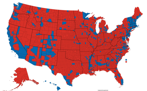 2020 Election Results Map by County