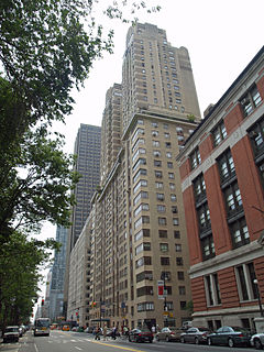 Residential skyscraper in Manhattan, New York