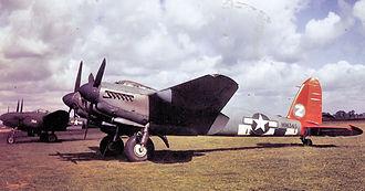 RAF Watton - A de Havilland Mosquito XVI of the 654th Bomb Squadron.