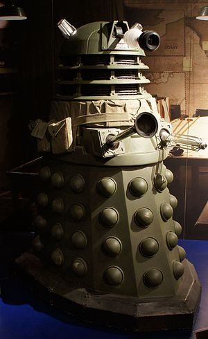 Victory of the Daleks - The camouflaged Ironsides in World War II era Britain, as shown at the Doctor Who Experience.