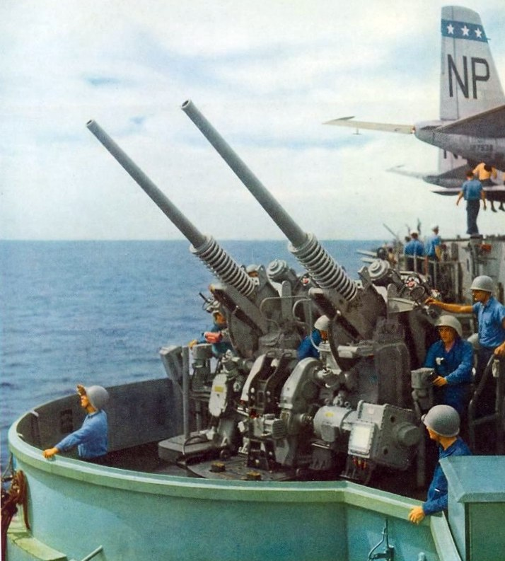 3in50 Mk 33 mount on USS Wasp (CVA-18) c1954