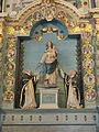 4433.Rosenkranzaltar-Altar des Heiligen Rosenkranzes(17.Jh.)Jungfrau Maria mit Kind umgeben von Dominikus und der Heiligen Katharina von Siena-In den Medaillons die Geheimnisse des Rosenkranzes.JPG