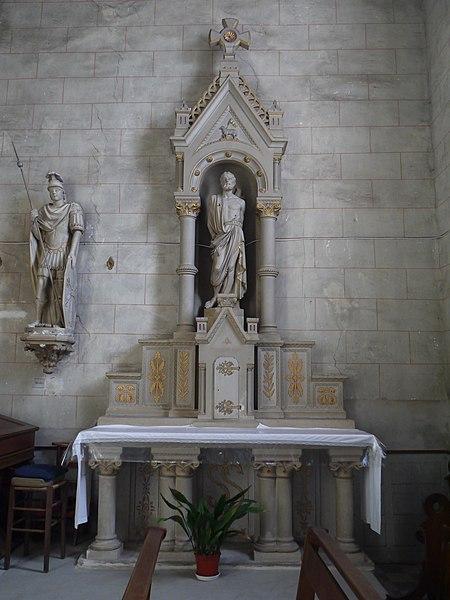 Autel de saint Sébastien.