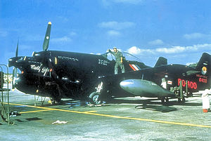 "4th Fighter Squadron - North American P-82G Twin Mustang 4th Fighter Squadron 46–400 ""Call Girl"" 1950 at Naha Air Base, Okinawa."