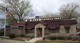 5-8 Club - The facade of the 5-8 Club