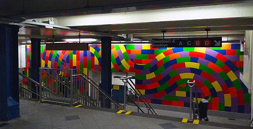 59 Street Columbus Circle art vc
