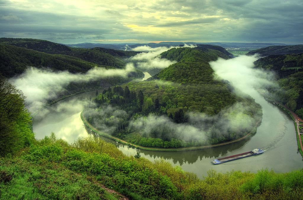 Große Saarschleife vom Aussichtspunkt Cloef (Saarland)