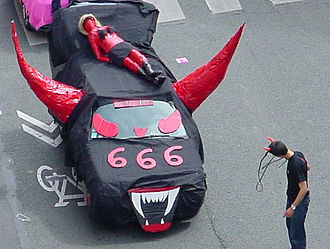 666 (number) - 666 float in a Paris parade