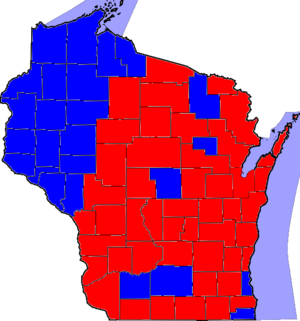 United States Senate election in Wisconsin, 1980 - Image: 80WISenate Counties