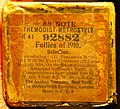 88 NOTE, THEMODIST-METROSTYLE, 92882, Follies of 1910. (piano roll) - The Aeolian Company, New York. The Orchestrelie Company, London. Made in U.S.A..jpg