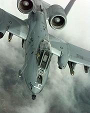A-10 Thunderbolt flight