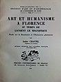 """A. Chastel, """"Art et Humanisme à Florence au temps de Laurent le Magnifique"""", Paris, PUF, 1961 (1re éd., Paris, PUF, 1959).jpg"""