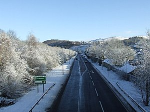 A78 road - Image: A78 Inverkip bypass geograph.org.uk 1635258