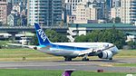 ANA Boeing 787-8 JA832A Landing down Taipei Songshan Airport Runway 20160821b.jpg