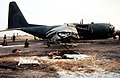 A 37th Tactical Airlift Squadron C-130E off the end of the runway at Biebelstadt Army Airfield, Germany after crash landing. Buffeted by high winds on final approach the landing gea - DPLA - e2a436f0355a09e6be978ad1ced67cb8.jpeg