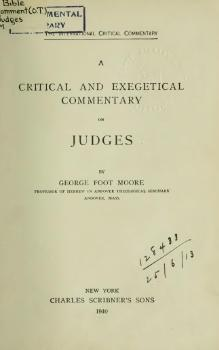 A Critical and Exegetical Commentary on Judges.djvu