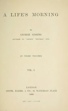 A Life's Morning by George Gissing (volume 1).djvu
