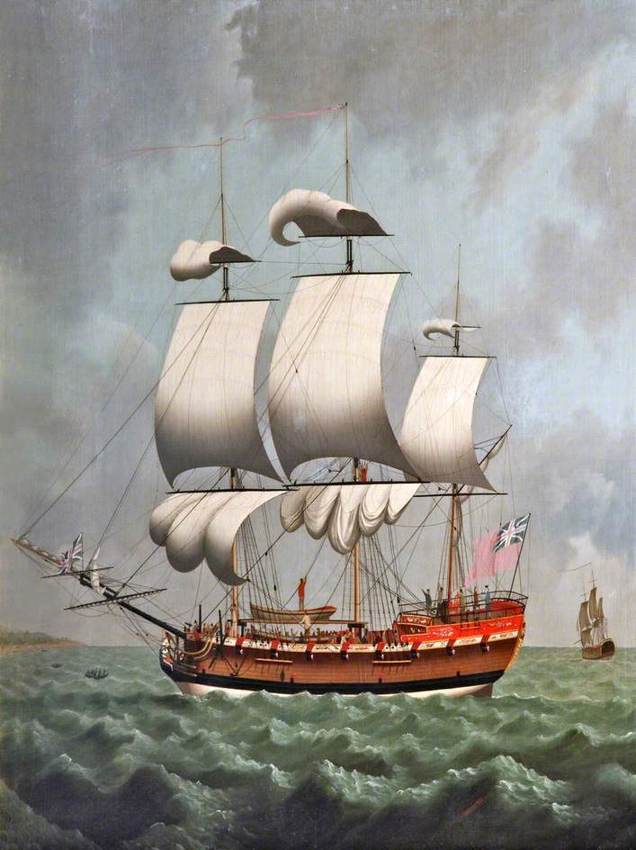 A Liverpool Slave Ship by William Jackson