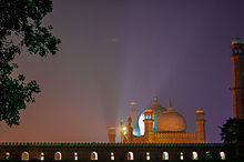 A Very Beautiful Night View of Badshahi Masjid, Lahore.jpg