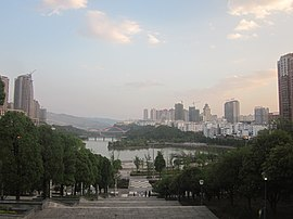 A commanding view of the East Lake Park, Panzhou, Guizhou, China6.jpg
